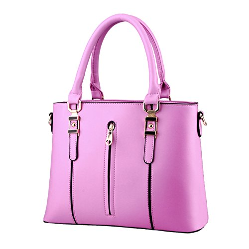 Flada, Borsa tote donna rosa Pink medium Purple