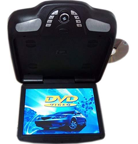 11,3 Zoll Auto Monitor Dach Decke Flip Down TFT LCD-Bildschirm Mount DVD-Player mit USB/SD/IR/FM Transmitter/Lautsprecher/Spiel,Black
