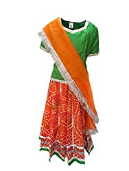 KFD Rajasthani Lehnga fancy dress for kids,Indian State Traditional Wear Costume for Annual function/Theme party/Competition/Stage Shows/Birthday Party Dress