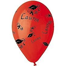 50Globos de látex 12pulgadas Rojo graduación con Tocco el día de graduación