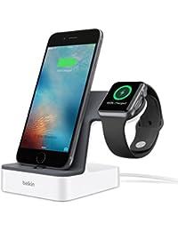 Belkin PowerHouse 2-in-1 Ladestation (geeignet für die Apple Watch und das iPhone mit 1,2 m-Ladekabel) weiß
