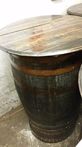 Whisky riciclata, legno di quercia rustico con copertura per tavolo da veranda