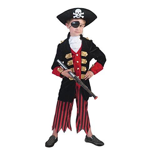 Kostümplanet® Piraten-Kostüm Deluxe für Kinder Käpitän Pirat Seeräuber Größe (Pirat Kostüme Deluxe Kind)