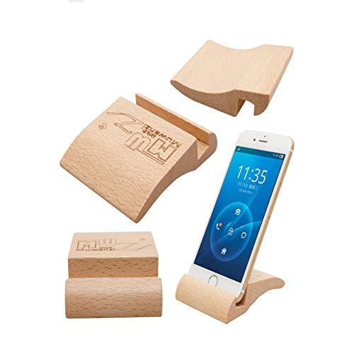 Ellepigy Kreativer Hölzerner Telefon Halter Stand Beweglicher Tablet Sockel Hölzerner Desktop Smartphone Ipad Klammer