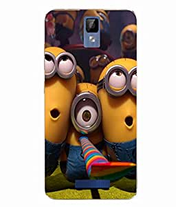 Case Cover Minions Printed Multicolor Soft Back Cover For Gionee P7 MAX