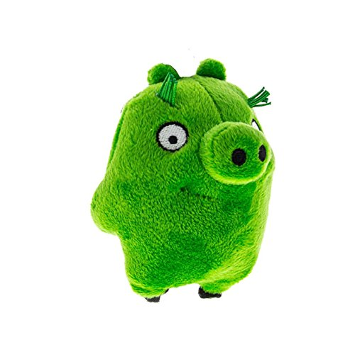 """Angry Birds - Green Pig Plush - Movie - Clip on - 10cm 4"""""""