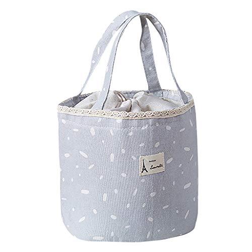 KonJin Lunch Tasche Lunch Bag Thermische Tasche Mittagessen Isoliertasche Thermotasche für Arbeit und Schule isolierte Mittagessen Picknick Kühltasche