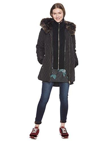 Desigual Damen Mantel PADDED_MACA, Schwarz (Negro 2000), 36 (Herstellergröße: 38) (Mäntel Damen Desigual)