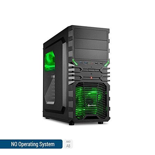 Sedatech Casual Gaming PC AMD A8-9600 4X 3.1GHz, Radeon R7 Series, 4GB RAM DDR4, 1TB HDD, USB 3.0, Full HD 1080p. Rechner Ohne OS