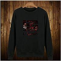 QNL Suéter de Baloncesto, otoño e Invierno más Terciopelo Acolchado Acolchado cornejo suéter suéter de Baloncesto para Hombres, Chaqueta para Hombres, Chaqueta para homb black3-M