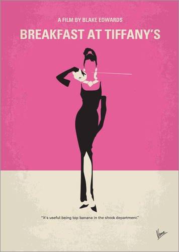 Posterlounge Leinwandbild 90 x 120 cm: Breakfast at Tiffany's von chungkong - fertiges Wandbild, Bild auf Keilrahmen, Fertigbild auf echter Leinwand, Leinwanddruck (Sterne Breakfast Tiffanys At)