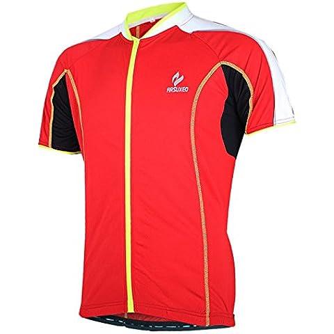 MaMaison007 Arsuxeo bici bicicleta ciclismo Tops ropa corto de hombres mangas Ciclismo Jersey ropa deportiva -L
