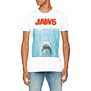 Jaws Movie Poster, T-Shirt Homme, Blanc, L