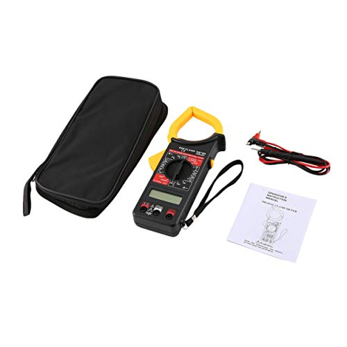DT266 Handheld Digital Clamp Meter Multimeter AC/DC Volt Strom Spannung Ohm Tester Widerstand Amperemeter Isolation Multitester - Gelb & Schwarz Ipod Factory Radio