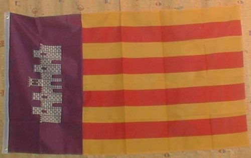 Flaggenking Mallorca - Inselflagge Flaggen/Fahnen, Mehrfarbig, 150x90x1 cm