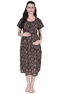7a0b7ef8687 Vixenwrap Multi Red Printed A-Line Maternity Gown(XL Red)