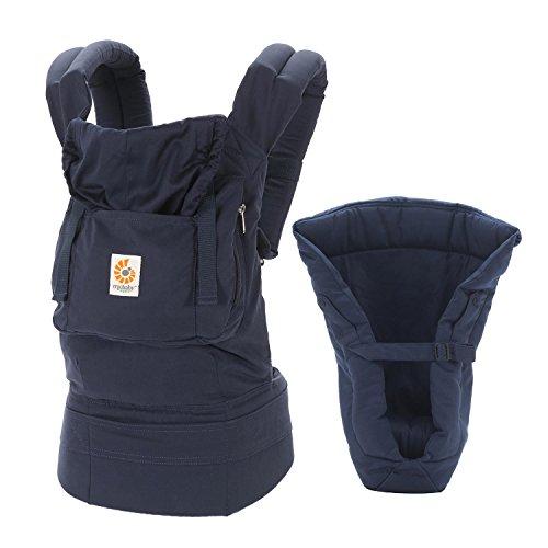 Ergobaby Babytrage Kollektion Organic -von Geburt an Paket- (3,2 - 20 kg), Navy