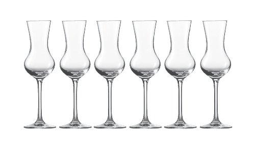 Schott zwiesel - set 6 bicchieri per grappa, in confezione originale