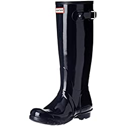 Hunters Original Tall Gloss - Botas de agua, color: Azul, Azul, 35/36 EU
