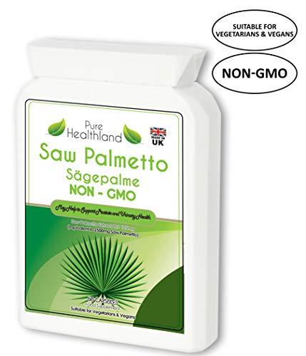 GMO Frei Saw Palmetto Sägepalme Kapseln für die Gesundheit der Männerprostata. Superstarke 2500mg Formel zur Unterstützung der Prostata, um häufiges Wasserlassen zu reduzieren für Veganer - Pflanzliche Prostata-formel
