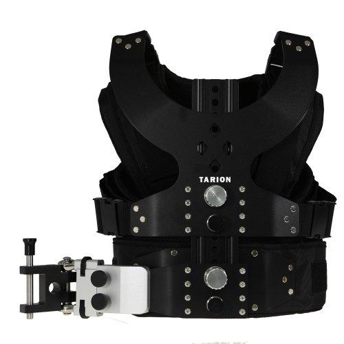 TARION Schwebestativ Weste Professionelles Stabilisierungssystem mit 2x Federarm für DSLR & Camcorder