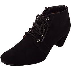 Exotique Women's Black Casual Boot (EL0040_BLACK-37)