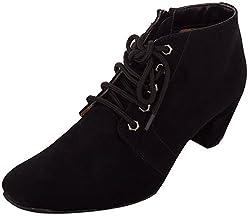 Exotique Womens Black Casual Boot (EL0040_BLACK-36)