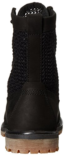 Timberland Women's Open Weave 6 Boot Black Nubuck/Black Weave
