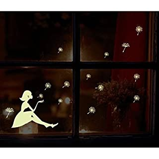 RICISUNG Dandelion girl star luminous stickers posted stickers