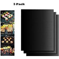 BBQ grill mat, Juego de 3 Non de Stick bbq esteras de barbacoa Reutilizable para