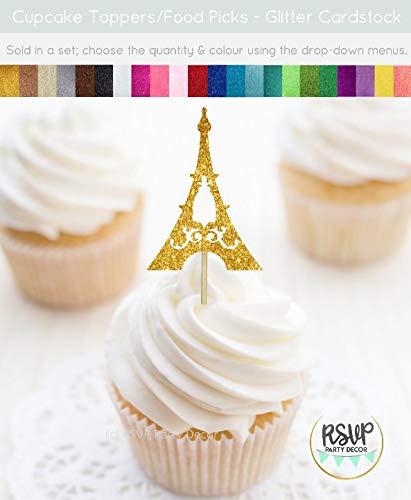Eiffelturm Cupcake-Topper Paris Motto Party Dekorationen Französisch Party Decor Paris Brautparty Paris Geburtstag (Paris Birthday Party Dekorationen)