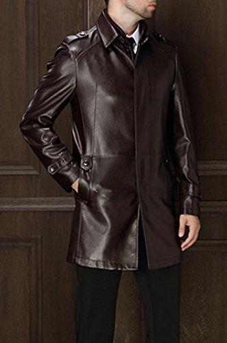 Hommes mode cuir Entreprise cuir Vent cuir veste Café