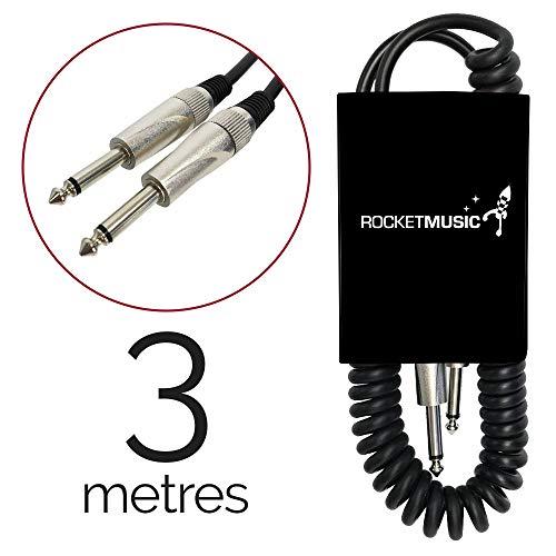 Rocket GCJJC300P - Cable de instrumento en espiral