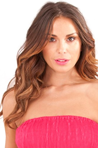 Dannii Matthews - Jupe - Bandeau - Imprimé Cachemire - Sans Manche - Femme rose rose Rose