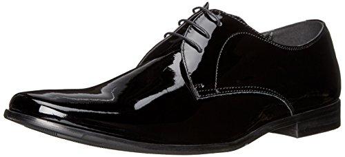 Steve Madden Men's Hylife Oxford, Black Patent, 7 M US -