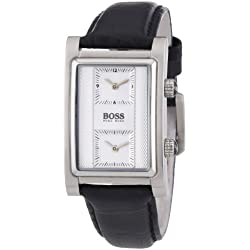 Hugo Boss Men's Watch with Silver Dial and Black stainless Steel Bracelet HB 1512191