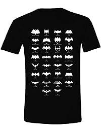 Batman Men's All Logo Short Sleeve T-Shirt