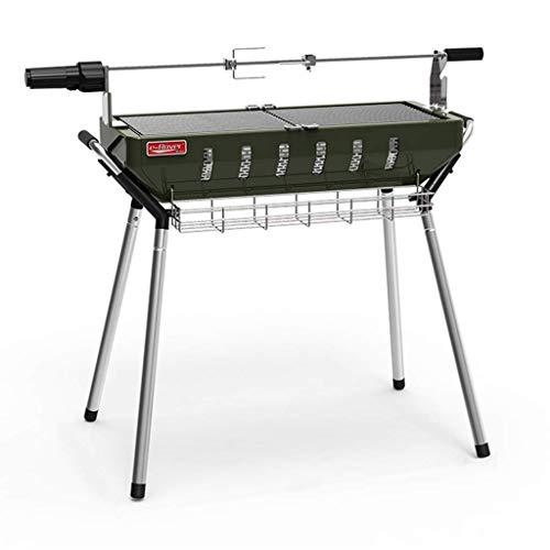 Easy Barbecues Set Barbecue Barbacoa desmontable Horno de carbono plegable portátil Parrilla de acero...