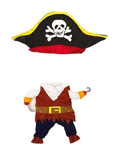 SAMGU Hunde Kleider Haustier Kostüm Bekleidung Mantel Piraten-Kapitän Design Cosplay Farbe Brown Größe Small (Hunde Piraten-kostüme Für)