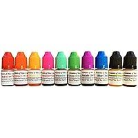 10 x Seifenherstellung Badebombe kosmetische Farben auf Wasserbasis Farbstoffe 5ml Set - hochkonzentriert!