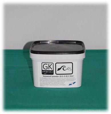 GK-Organics Braunalgen Dünger Kelp Seegras Pulver 1L Grow Bio Biodünger (Pulver Dünger)