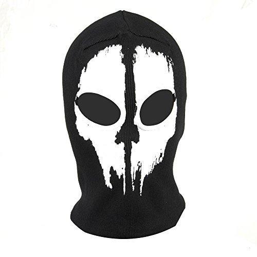 Fortag Unterschiedliche Sturmhaube Geister Schädel-Maske Gesichtshaube Balaclava Windmaske Skimaske Motorradmaske für Herren Damen Outdoor Sports Motorrad Ski Snowboard Ghost Skull Maske (Modell-3)