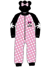 Pijama Mono MINNIE Niña Manga Larga Polar ROSA