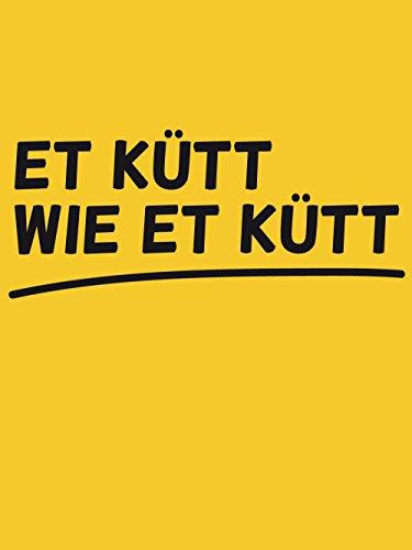 clothinx Damen T-Shirt Karneval Et kütt wie et kütt Gelb mit Schwarz