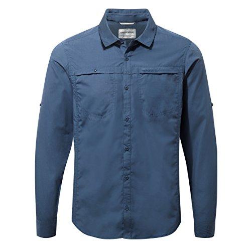 Craghoppers Herren Kiwi Trek Langarm Hemd, Vintage Indigo, L