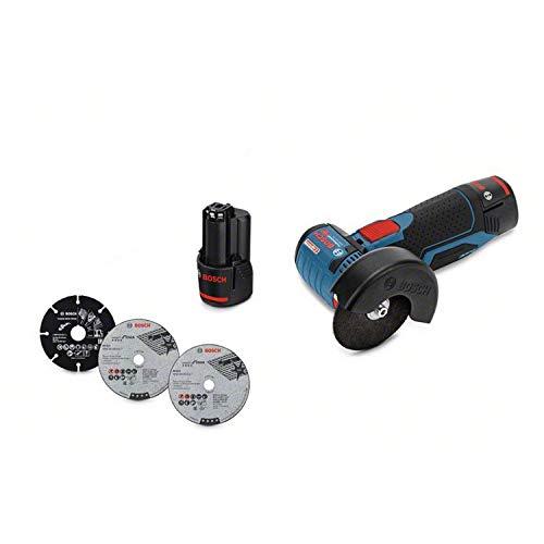 Meuleuse d'angle avec Batterie GWS 12V-76 (Batterie 2x 3,0Ah, 12V, Ø de Perçage:10mm,...