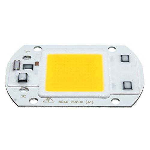 Hitommy COB LED-Chip-Glühbirne für Flutlicht, 40 x 60 mm, 30 W, 2600 lm, Warm/Weiß