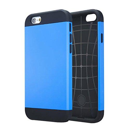Apple iPhone 5 / 5s Etui Coque - Housse Etui Portefeuille Pu Cuir Rouge Pour Le Apple iPhone 5 5S - thinkmobile Armour Dur Cas - Bleu