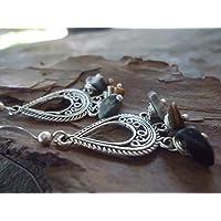 ✿ CHANDELIERS & NATURSTEINE ✿ wunderbare Ohrringe