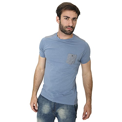 T-Shirt Männer Shirt in Baumwolle Sommer Casual Smiling London Denim